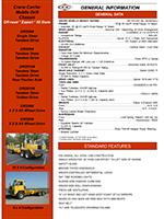Crane Carrier DR Trucks Specs