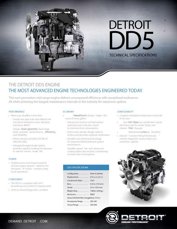Freightliner M2 Detroit Diesel DD5 Engine Brochure -   Velocity Truck Centers