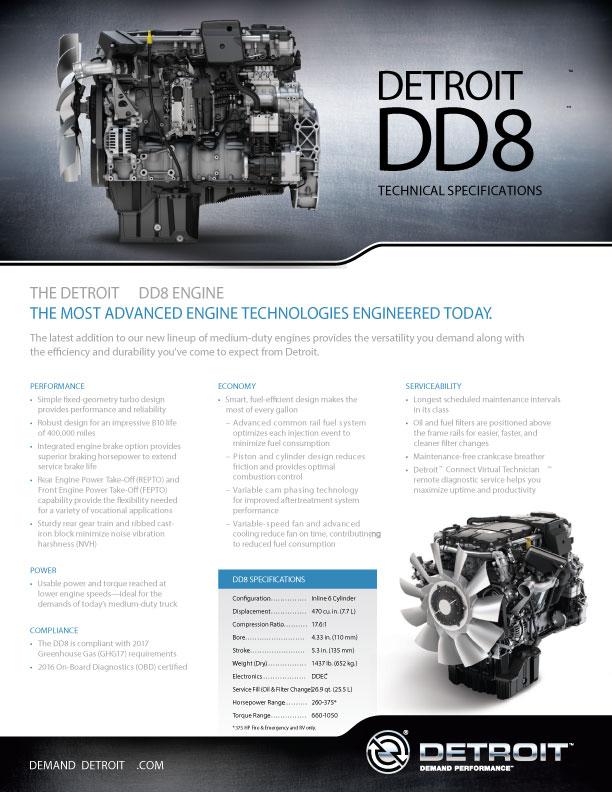 Freightliner M2 Detroit Diesel DD8 Engine Brochure -   Velocity Truck Centers