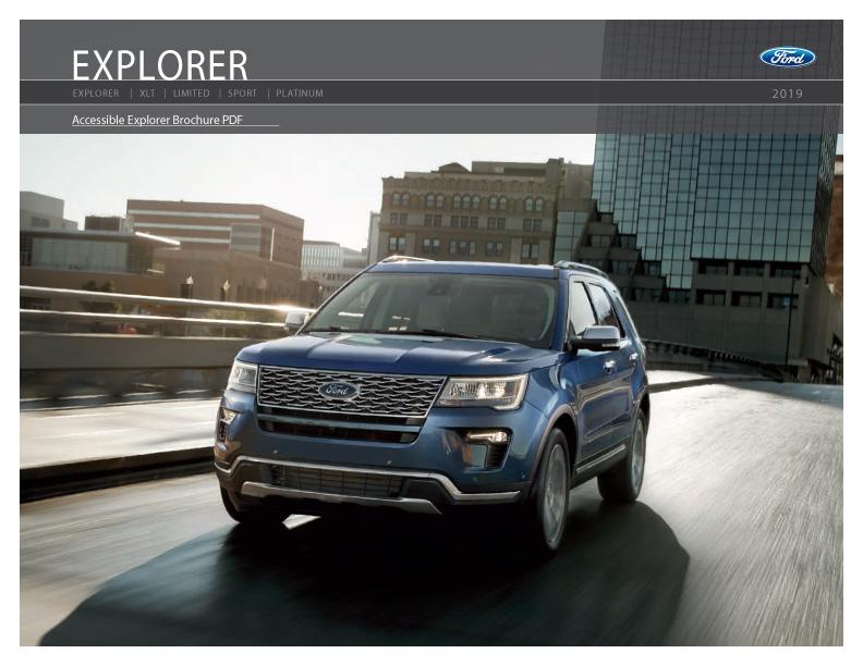 2020 Ford Explorer SUV Brochure