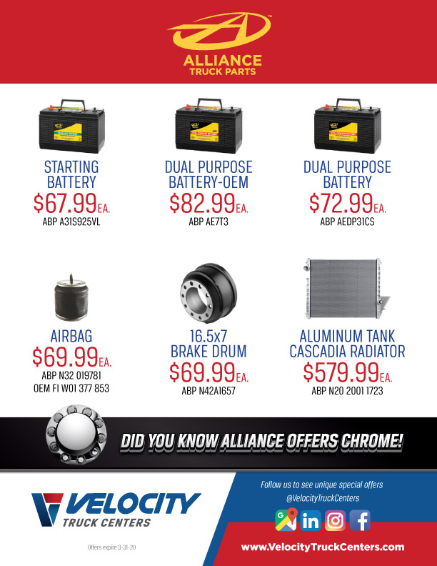 Alliance Truck Parts Special Offers at VTC