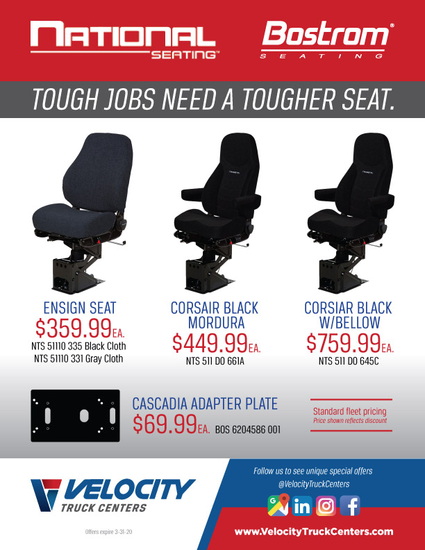 Seating special offers: National Seating & Bostrom Seating