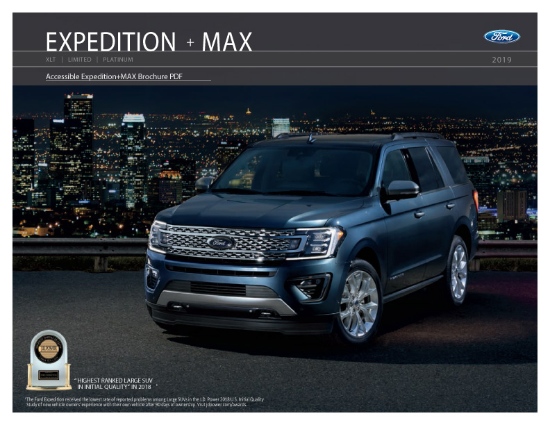 2020 Ford Expedition SUV Brochure