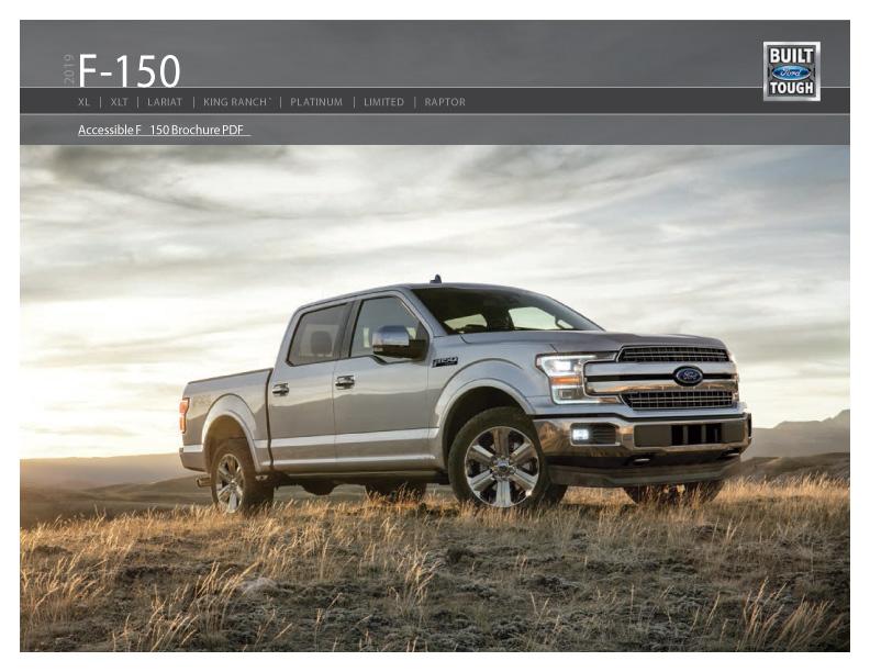 Ford F-150 Truck Brochure