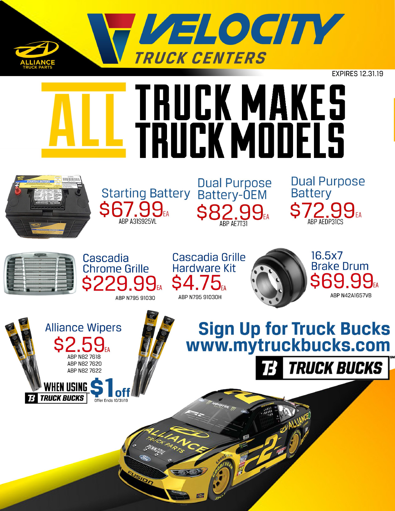 Alliance Truck Parts for Sale at Velocity Truck Centers