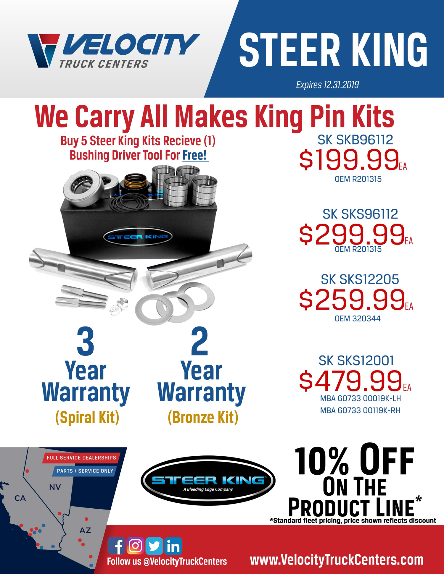 Steer King Parts Specials at Velocity Truck Centers